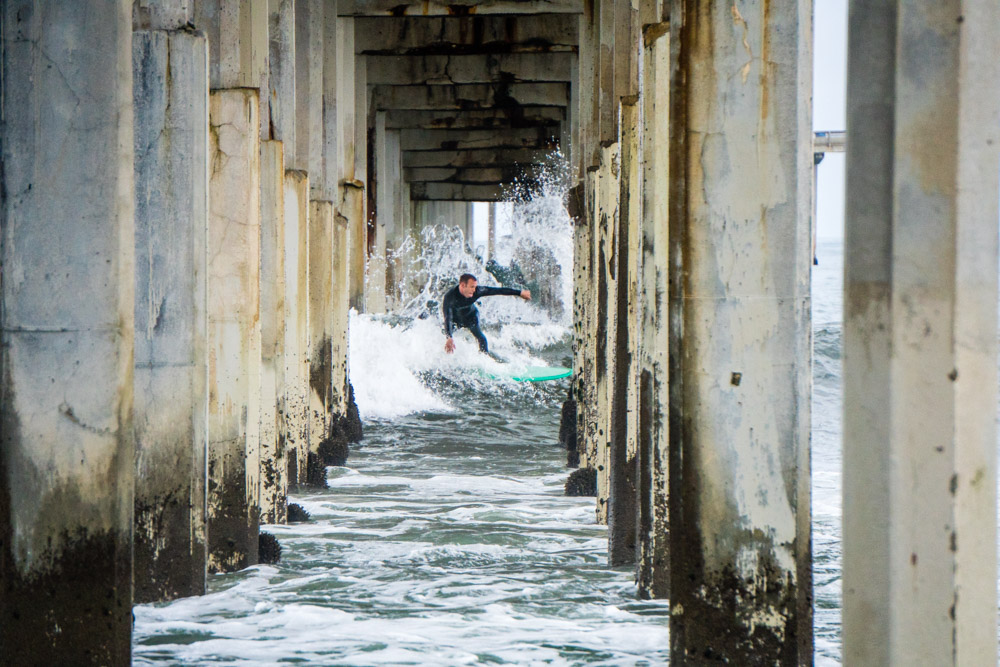 Surfing Through the Pier