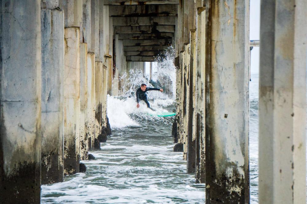 Surfing Through the Pier